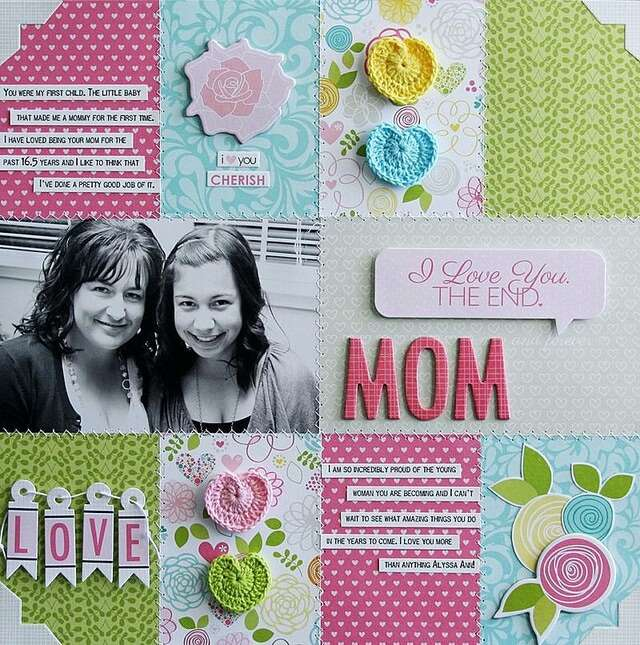 mother's day gifts scrapbook
