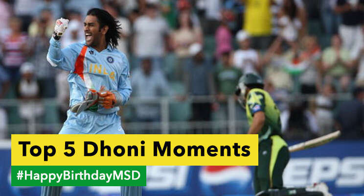 top 5 dhoni moments hbd dhoni