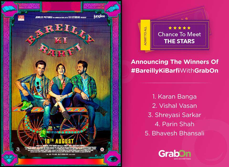 bareilly ki barfi contest winners