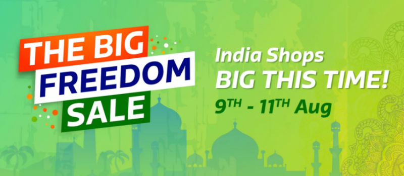 independence day online shopping offers flipkart big freedom sale