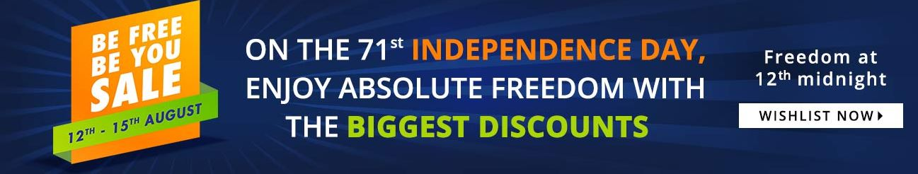 independence day online shopping offers jabong be free be you sale