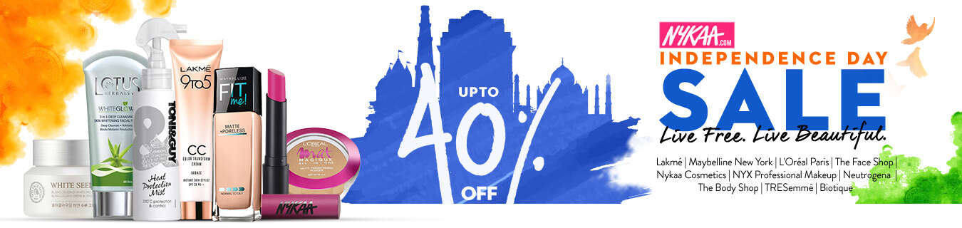 independence day online shopping offers nykaa independence day sale