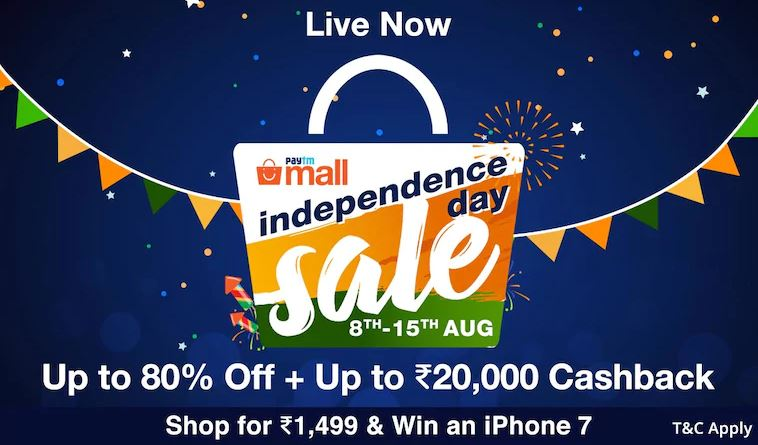 independence day online shopping offers paytm mall
