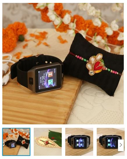 personalized rakhi and smartwatch combo