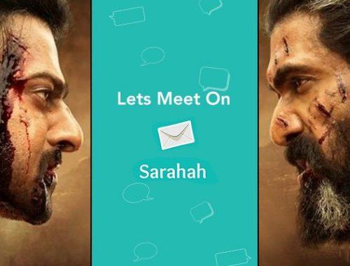 sarahah app popularity during Bahubali regime