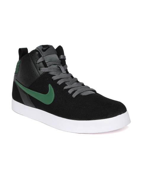 myntra mens footwear nike black liteforce III sneakers