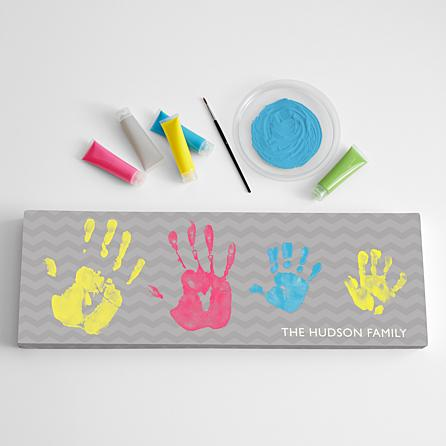 gift for mom handprint family canvas art