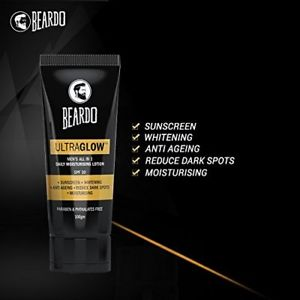 mens all in one moisturising lotion beardo ultraglow