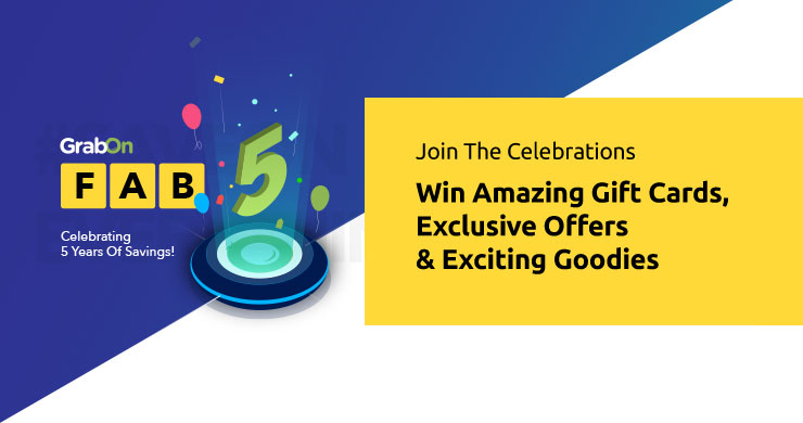 GrabOn Fab5- Celebrate & Win Exciting Goodies!