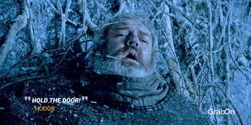 Hodor Hold The Door Scene