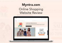 Myntra Shopping Website Review