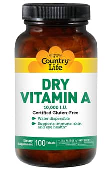 Country Life Dry Vitamin A Tablets