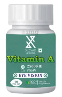 Xovak Pharma Vitamin A 25000IU Veg Capsule